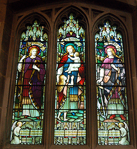 Stained glass window in the north aisle June 2012
