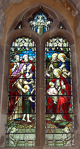 Stained glass window in the south aisle June 2012