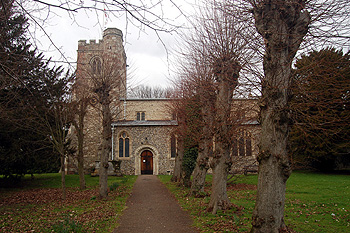 The church from the south March 2012