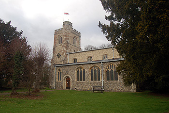 The church from the south-east March 2012