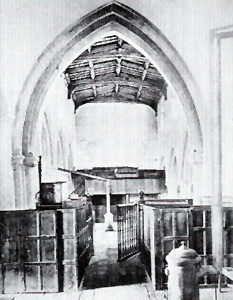 The interior looking west in 1874 from Horace Prescott's book