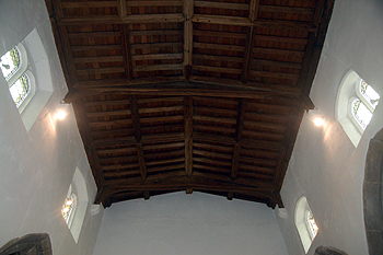 The nave roof June 2012