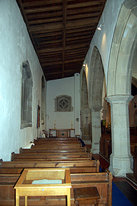 The north aisle looking east June 2012
