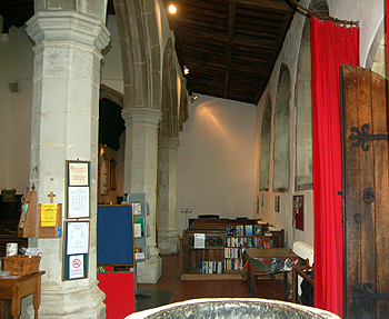 The south aisle looking east June 2012