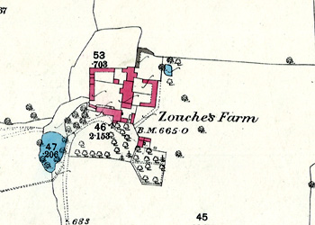 Zouche's Farm on a map of 1880