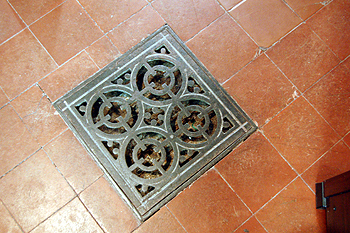 vent for the former under floor heating system June 2012