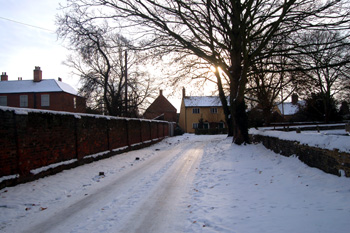 Church Lane Christmas Eve 2010