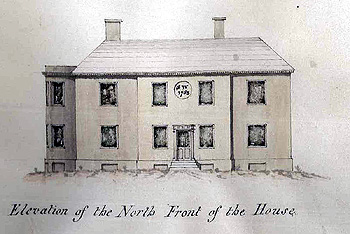 Elevation of the north front of the Vicarage 1792 [W3708]