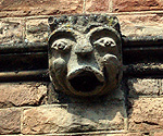 Gargoyle on the south aisle exterior wall March 2011