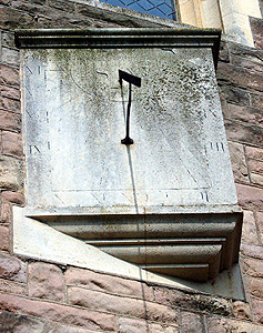 Sundial on the west wall of the west tower March 2011