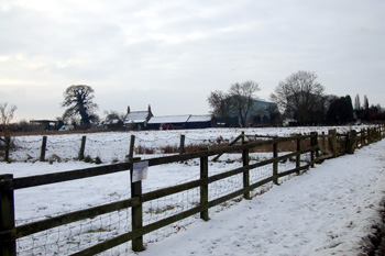 View from Southill Road towards RAF Cardington Christmas Eve 2010
