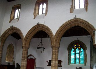 Carlton Church arches and clerestory N