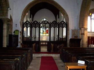 Carlton Church chancel and screen May 2018