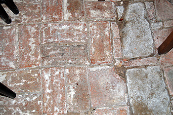 Brick floor of the north aisle June 2012