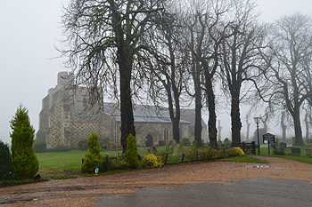 Chalgrave church on a misty morning November 2014