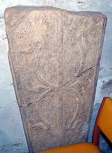 Pre-Conquest grave slab in the south aisle June 2012