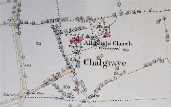 The area around the church in 1882