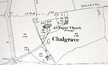 The area around the church in 1901