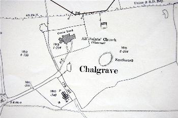 The area around the church in 1925
