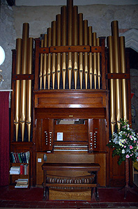The organ at the west end of the nave June 2012
