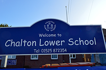 Chalton Lower School sign