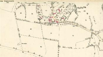 The southern part of the village in 1882