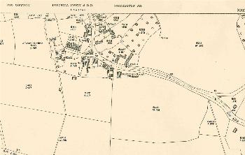 The southern part of the village in 1925