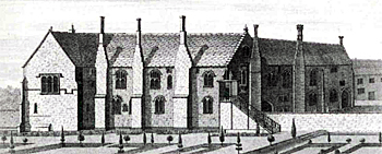 Chicksands Priory about 1730 by N and S Buck