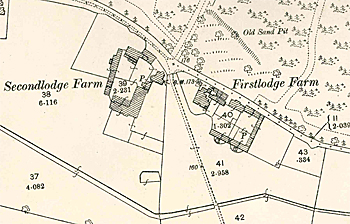Firstlodge and Secondlodge Farmhouses in 1883