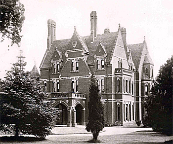 Clapham Park entrance front in 1889 [X67/338]