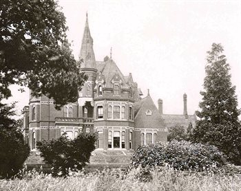 Clapham Park south front in 1889 [X67/338]