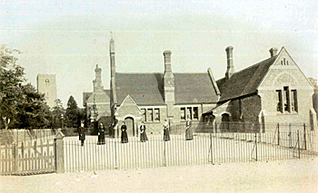 Clapham School in 1879 [X907/1]