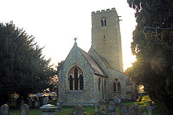 The church from the north-east at sunset April 2010