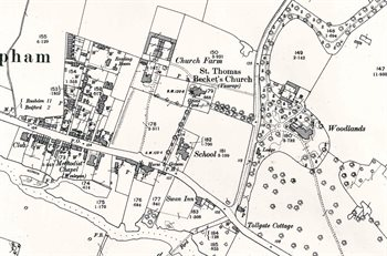 The eastern part of the village in 1901