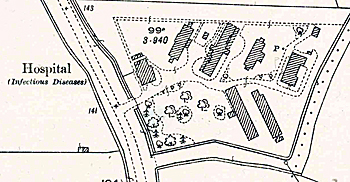 The hospital on a map of 1926