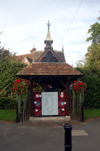 Clifton War Memorial August 2009 - built on the site of the village pump