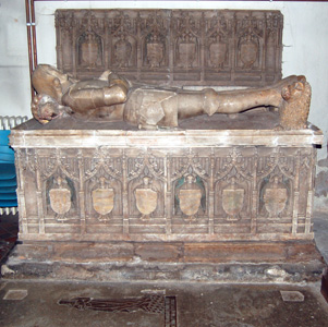 The tomb of Sir Thomas Lucy and his wife November 2009