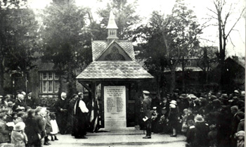 The war memorial dedication [Z50/30/15] - Captain Le Hardy clearly visible