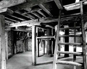 The first floor of Clophill Mill in 1983 [Z50/31/115]
