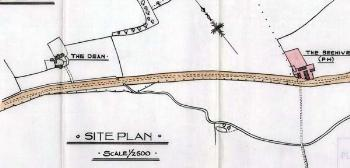 Site plan: position of Beehive Colesden
