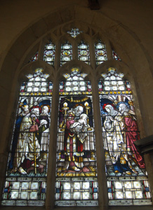 Chancel south wall east window August 2009