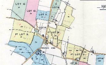 Church Farm comprising yellow coloured land marked Lot 9 in this sale particular plan of 1918 [MH60]