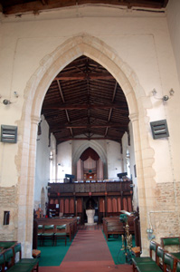 Looking west from the chancel August 2009