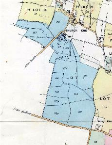 Manor Farm comprising blue coloured land marked Lot 1 in this sale particular plan of 1918 [MH60]