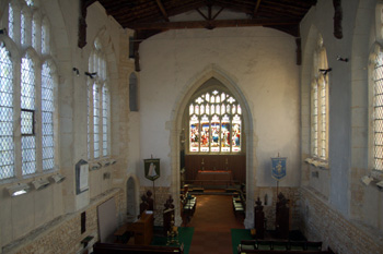 The interior looking east from the gallery August 2009