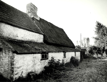 The rear of The Thatched Cottage in 1978 [Z50/32/12]