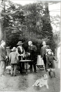 A garden party at Wood End House 1919 note Rev Joseph John Atkins