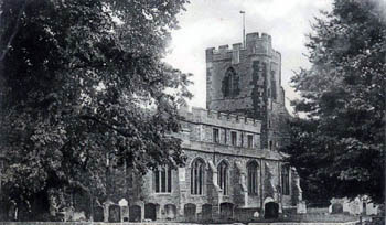 Cople Church from north west about 1900