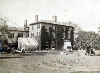 Cople House after addition of west wing 1875