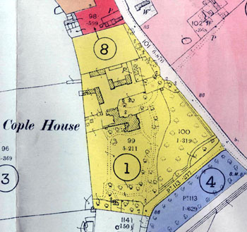 Cople House in yellow on 1947 sale plan